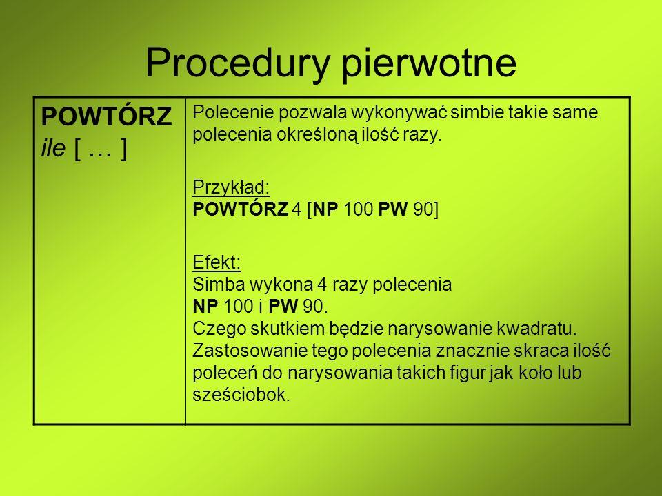 Procedury pierwotne POWTÓRZ ile [ … ]